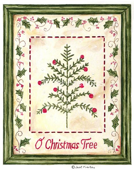christmas tree framed art 150dpi